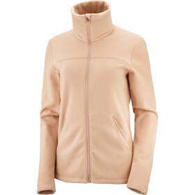 Salomon Sntial Cosy Fleece Full Zip Jacket Women, beige